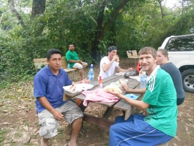 Lunch at Actun Tunichal Muknal.