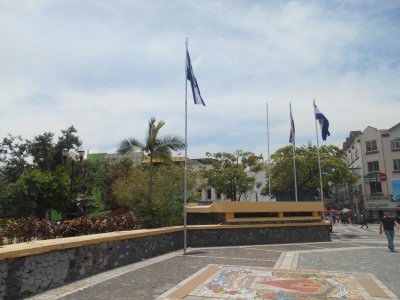 Backpacking in San Pedro Sula Honduras - Parque Central.