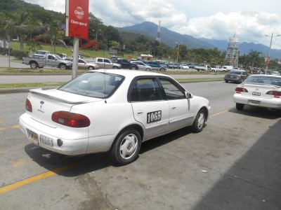 A San Pedro Sula taxi - worth getting!