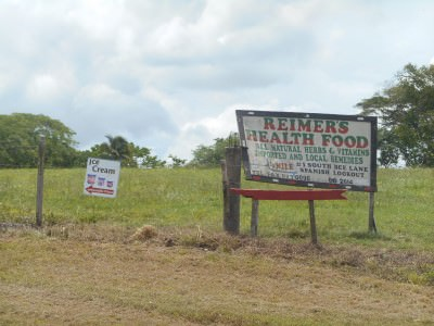 Reimer's Health Food Store in Spanish Lookout, Belize.