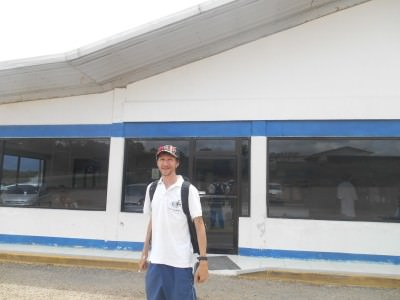 Arrival at WDs ice cream shop in Spanish Lookout, Belize.