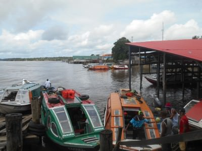 Arrival in Bartica, Guyana.