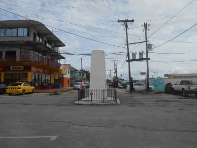 The monument in Bartica!! It's just a white block of concrete!