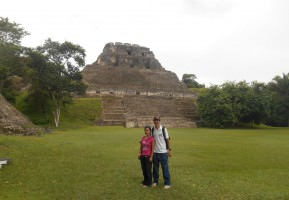 Backpacking in Belize - touring the ruins of Xunantunich up near the Guatemalan border.