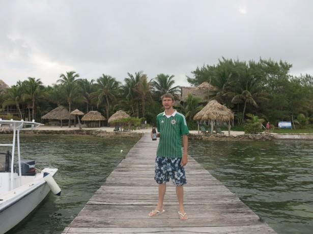 A beer in Xanadu resort in Belize. Take the bottles back.