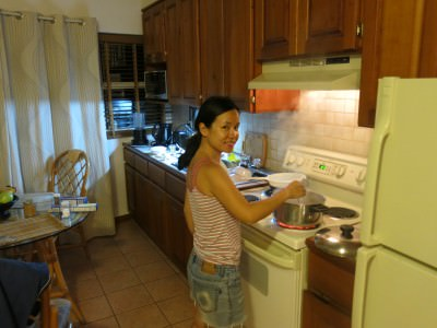 Panny cooking for me!