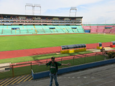 Inside the stadium at San Pedro Sula.