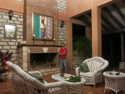 Chilling in the comfort of La Villa de Soledad, Rio Cangrejal, Honduras.