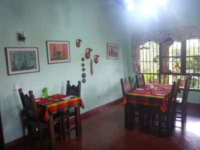Dining room in Hotel Linda Vista, Tegucigalpa.