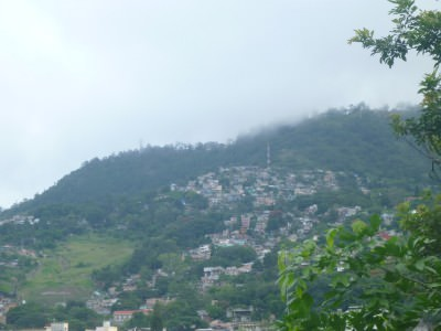 View from the back garden over Tegucigalpa, Honduras.