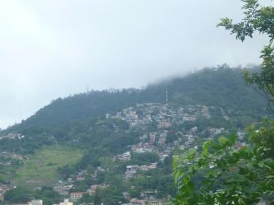 View from the back garden over Tegucigalpa, Honduras.