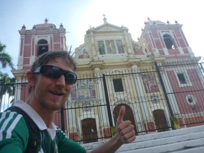 Checking out one of many many churches in Leon!
