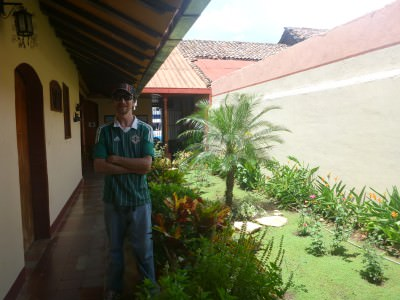 At my hostel in Leon - Casona Colonial
