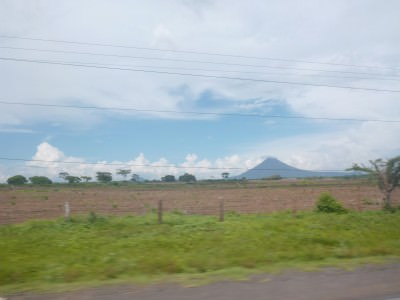 Great views on the minibus ride from Leon to Managua.