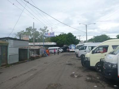 The UCA minibus station in Managua.