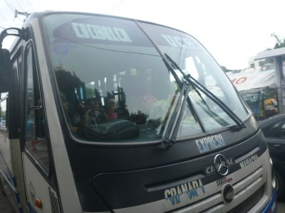 My bus from Managua to Granada