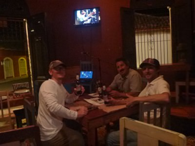 Drinking in Nicaragua with the Jackson lads from Wyoming - Jeremy and Brian.