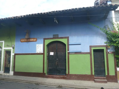 Exterior of Hostal San Angel.