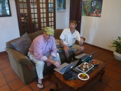 Michael Miller and I at the Hemingway Inn, San Jose, Costa Rica.