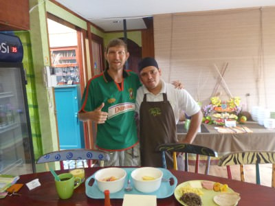 Great staff - with the chef at breakfast