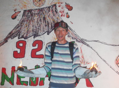Holding balls of fire in Nejapa!