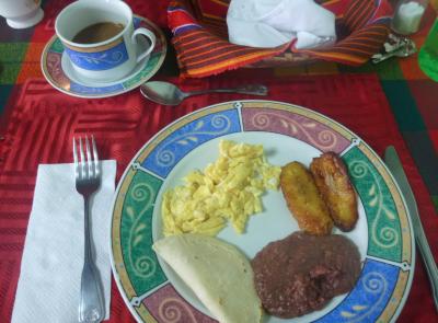 Breakfast time in Tegucigalpa.