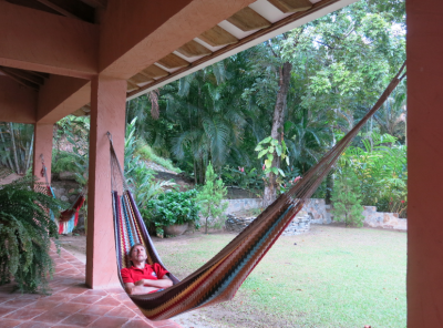 Tough life lazing on hammocks...