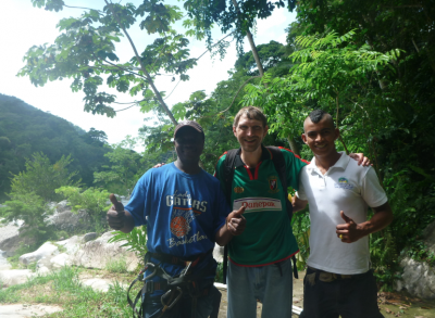 With Juan Carlos and Santos my guides for the day.