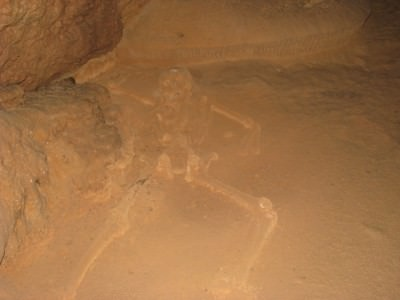 The Crystal Maiden - a full skeleton at the end of the trail which remains fairly intact.