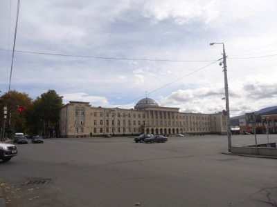 The square where the Stalin statue once was!