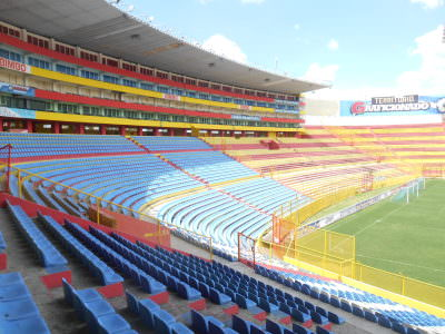 The Estadio Cuscatlan, largest stadium in Central America (not including Mexico, obviously).