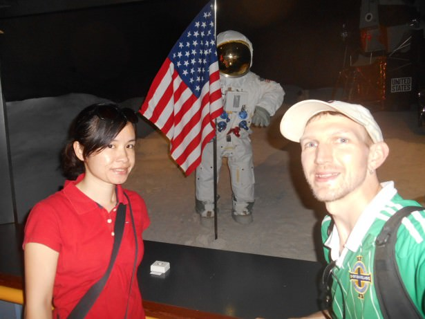 Backpacking in Outer Space - chilling on the moon with Neil Armstrong
