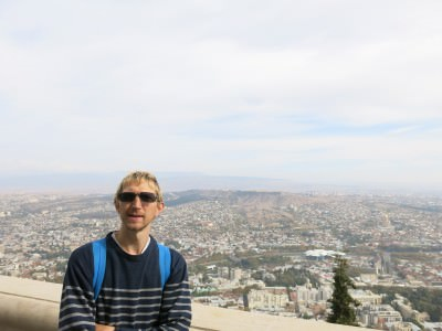 This is me backpacking in Tbilisi, GEORGIA. The country.