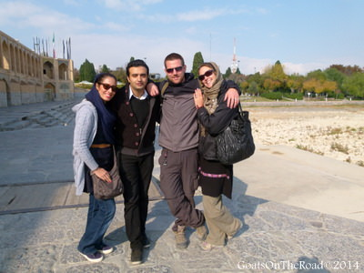 Nick and Dariece making new friends in Iran.
