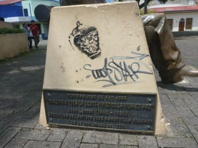 John Lennon bench, San Jose.