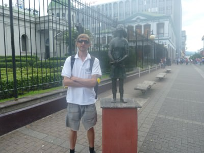 The Anne Frank statue in San Jose, Costa Rica.