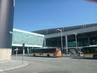 Bus station for Andorra at Barcelona Airport.