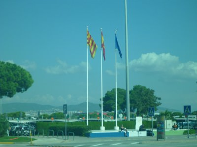 Leaving Catalonia/Spain at Barcelona