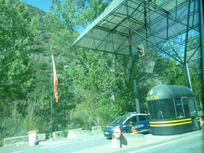 The border between Catalonia (Spain) and Andorra