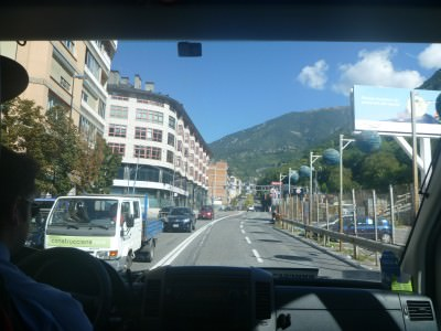 Arrival in Andorra.