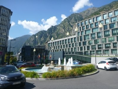Backpacking in Andorra's capital city.