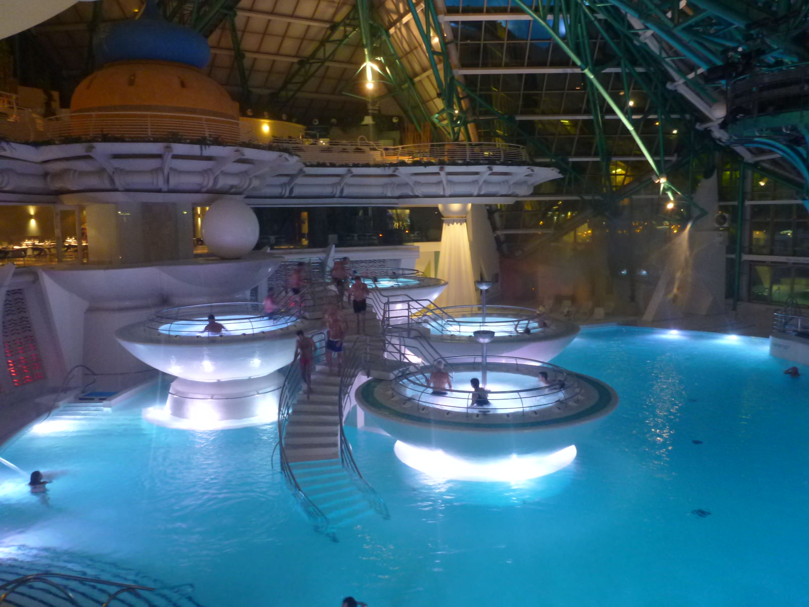 Spa In Swimming Pool: A Night Of Relaxation At Southern Europes Largest Spa