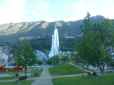 The Extravagant Caldea centre in Escaldes Engordany, Andorra.