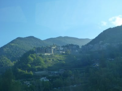 Gorgeous views from the bus window on route to Ordino.
