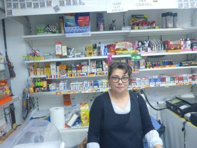 Natalia in her shop in Ordino.