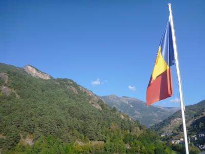 Andorran flag in Ordino.