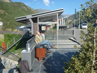 The main bus stop in Ordino.