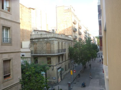 My view from Hostal Barcelona window.