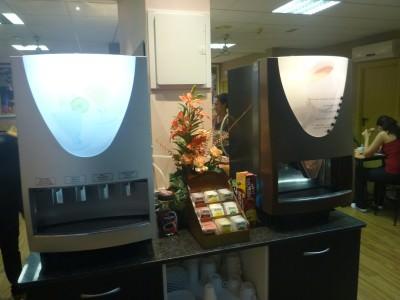 Coffee and Tea - Breakfast at Hostal Barcelona.