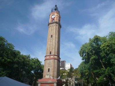 The clock tower in Gracia.
